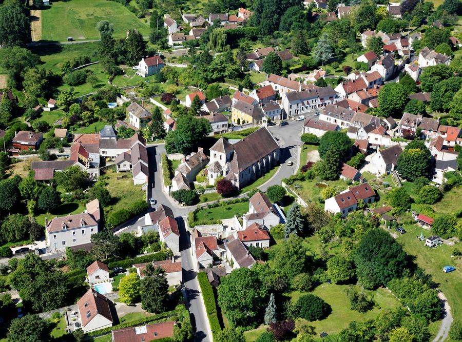 Fontenay-Saint-Père vu du ciel