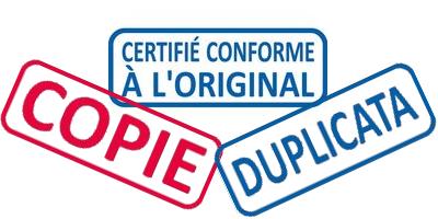 Copie certifiée conforme