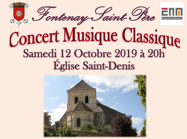 Concert musique classique au profit de la restauration de l'église Saint Denis
